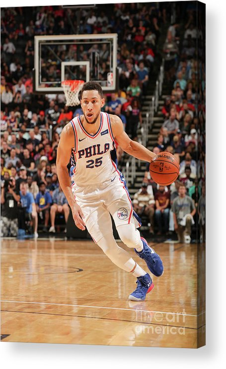 Nba Pro Basketball Acrylic Print featuring the photograph Ben Simmons by Issac Baldizon