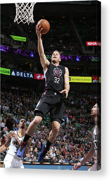 Nba Pro Basketball Acrylic Print featuring the photograph Blake Griffin by Melissa Majchrzak