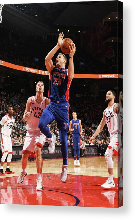 Nba Pro Basketball Acrylic Print featuring the photograph Blake Griffin by Ron Turenne