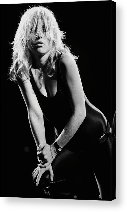 Rock Music Acrylic Print featuring the photograph Blondie In Concert At The Whiskey by George Rose