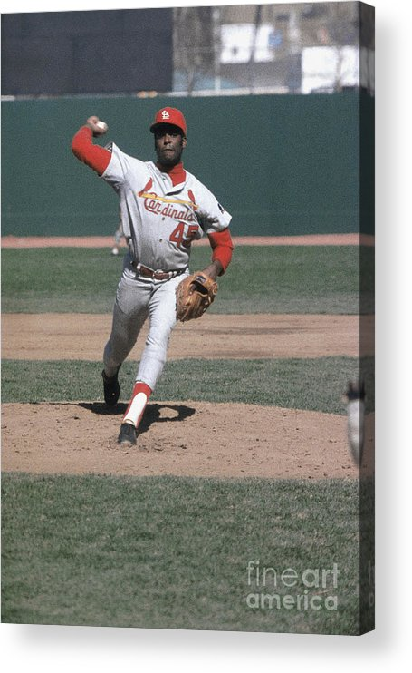 St. Louis Cardinals Acrylic Print featuring the photograph Bob Hall by Louis Requena