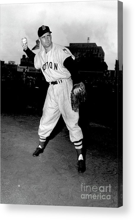 People Acrylic Print featuring the photograph Bobby Doerr by Kidwiler Collection