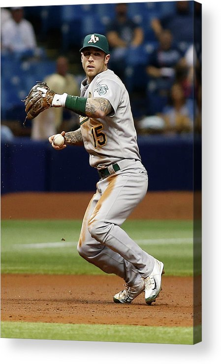 People Acrylic Print featuring the photograph Bobby Wilson and Brett Lawrie by Brian Blanco
