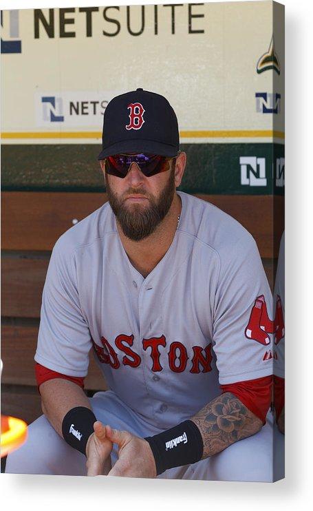 American League Baseball Acrylic Print featuring the photograph Boston Red Sox v Oakland Athletics by Jason O. Watson