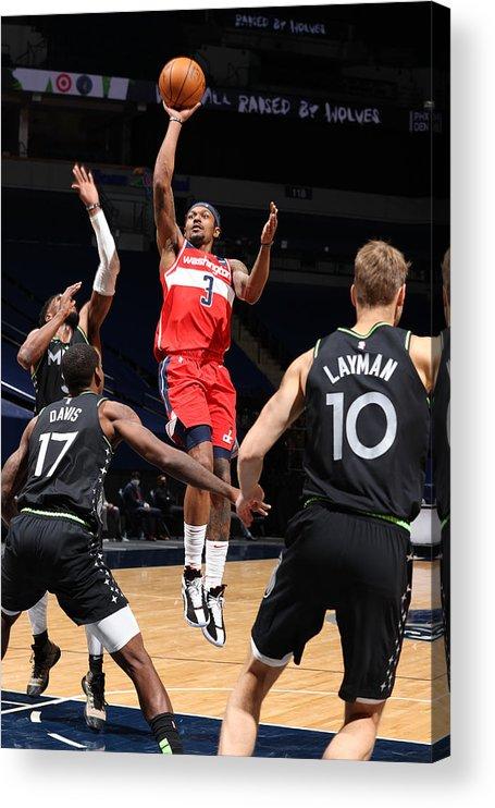 Nba Pro Basketball Acrylic Print featuring the photograph Bradley Beal by David Sherman