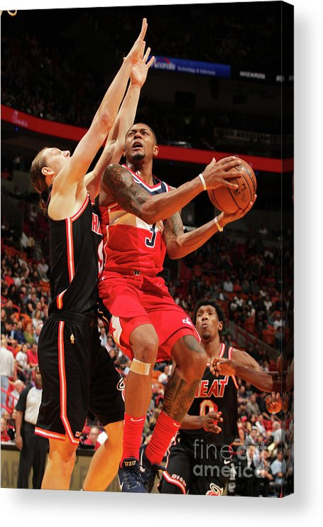Nba Pro Basketball Acrylic Print featuring the photograph Bradley Beal by Oscar Baldizon