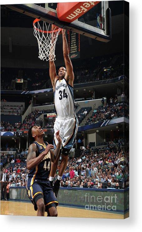 Nba Pro Basketball Acrylic Print featuring the photograph Brandan Wright by Joe Murphy