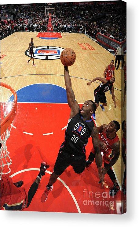 Nba Pro Basketball Acrylic Print featuring the photograph Brandon Bass by Adam Pantozzi