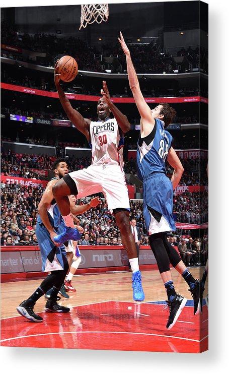 Nba Pro Basketball Acrylic Print featuring the photograph Brandon Bass by Andrew D. Bernstein