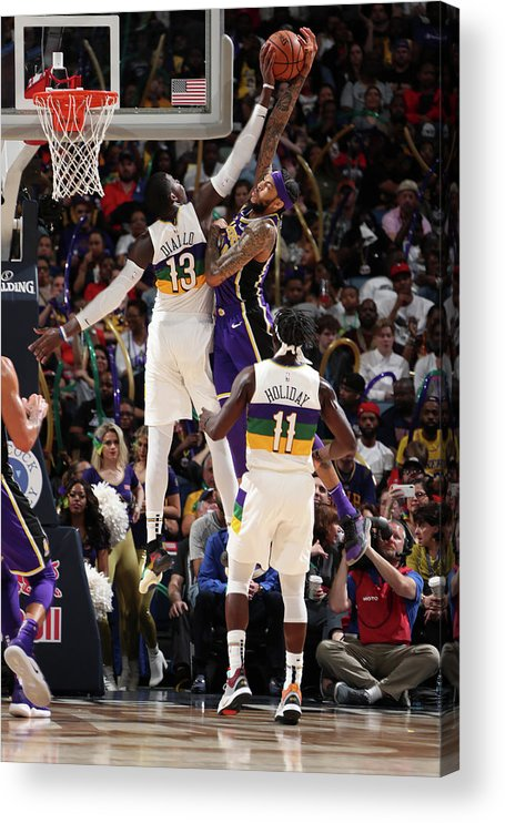 Smoothie King Center Acrylic Print featuring the photograph Brandon Ingram and Cheick Diallo by Nathaniel S. Butler