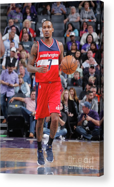 Nba Pro Basketball Acrylic Print featuring the photograph Brandon Jennings by Rocky Widner