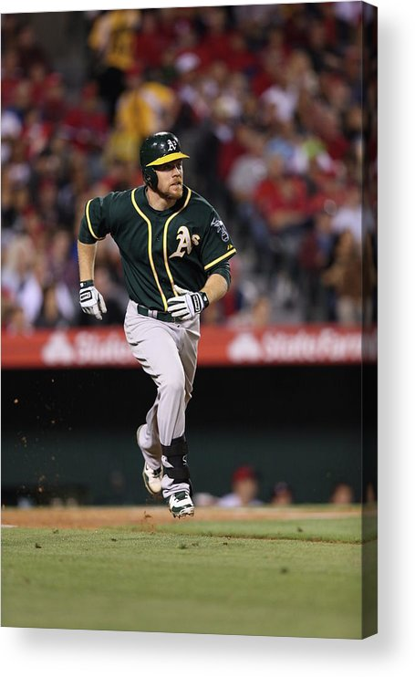 American League Baseball Acrylic Print featuring the photograph Brandon Moss by Paul Spinelli