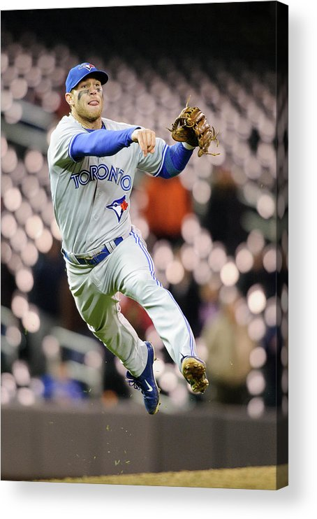 Game Two Acrylic Print featuring the photograph Brett Lawrie by Hannah Foslien