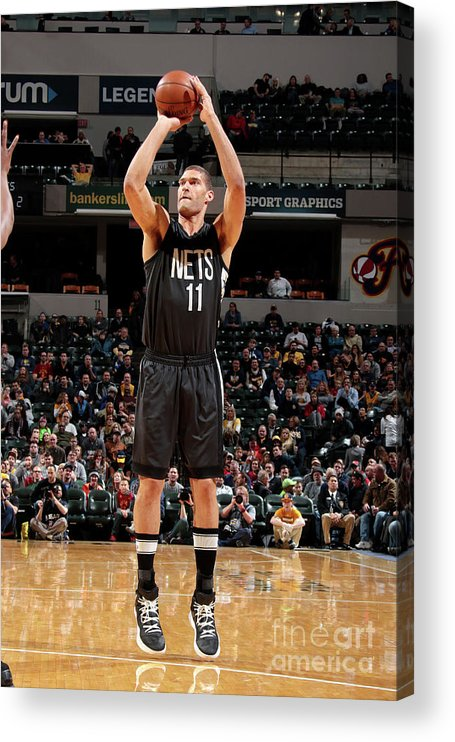Nba Pro Basketball Acrylic Print featuring the photograph Brook Lopez by Ron Hoskins