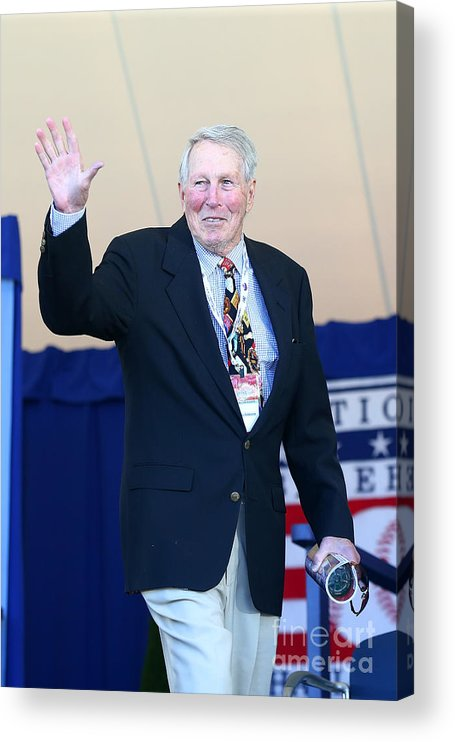 Three Quarter Length Acrylic Print featuring the photograph Brooks Robinson by Mike Stobe
