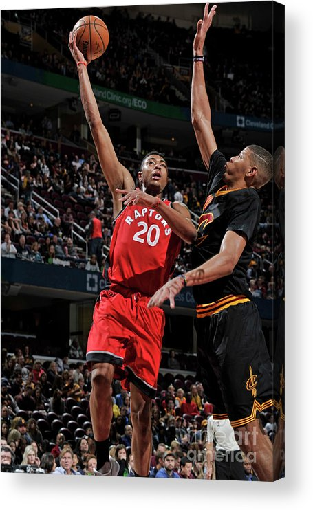 Nba Pro Basketball Acrylic Print featuring the photograph Bruno Caboclo by David Liam Kyle