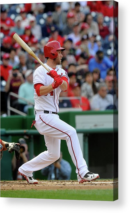 American League Baseball Acrylic Print featuring the photograph Bryce Harper by Greg Fiume