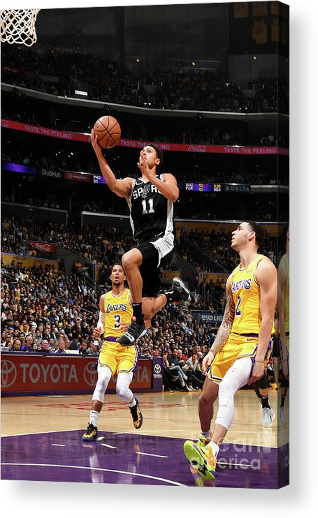 Nba Pro Basketball Acrylic Print featuring the photograph Bryn Forbes by Andrew D. Bernstein