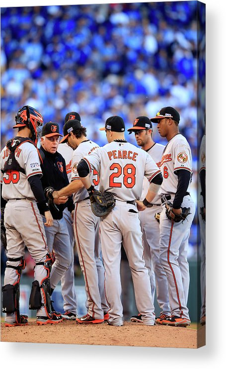American League Baseball Acrylic Print featuring the photograph Buck Showalter by Jamie Squire