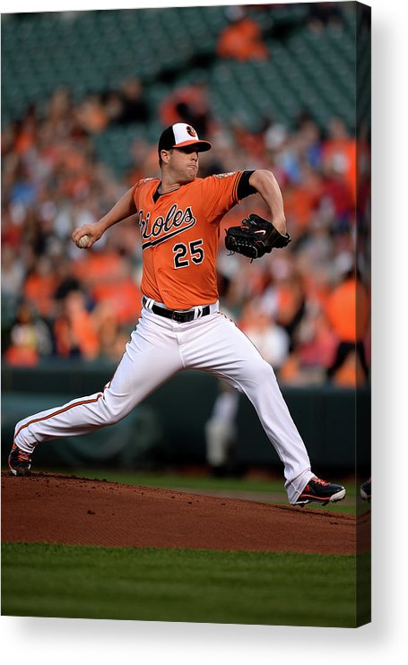 Working Acrylic Print featuring the photograph Bud Norris by Patrick Smith