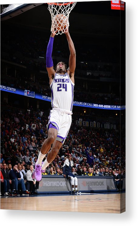 Nba Pro Basketball Acrylic Print featuring the photograph Buddy Hield by Bart Young