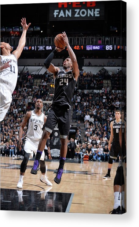 Nba Pro Basketball Acrylic Print featuring the photograph Buddy Hield by Mark Sobhani