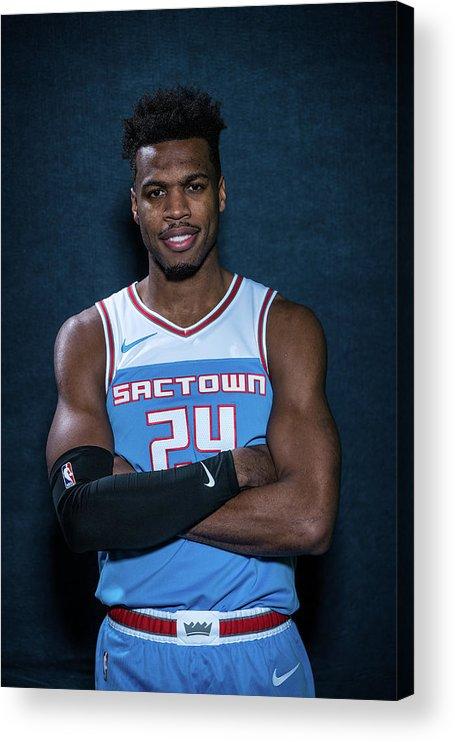 Nba Pro Basketball Acrylic Print featuring the photograph Buddy Hield by Michael J. Lebrecht Ii