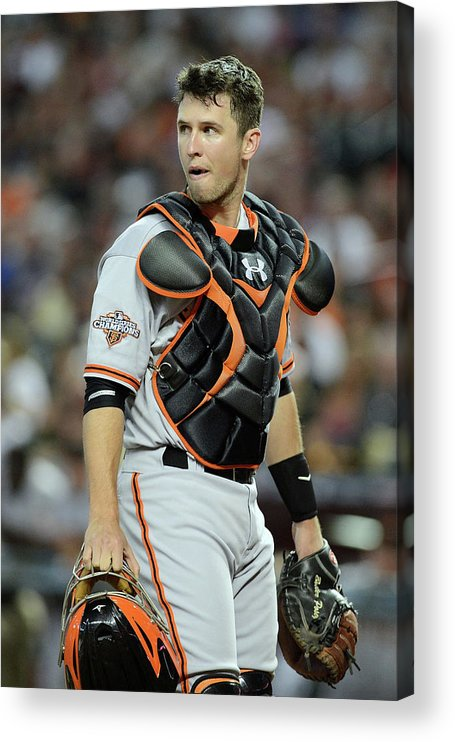 Second Inning Acrylic Print featuring the photograph Buster Posey by Jennifer Stewart