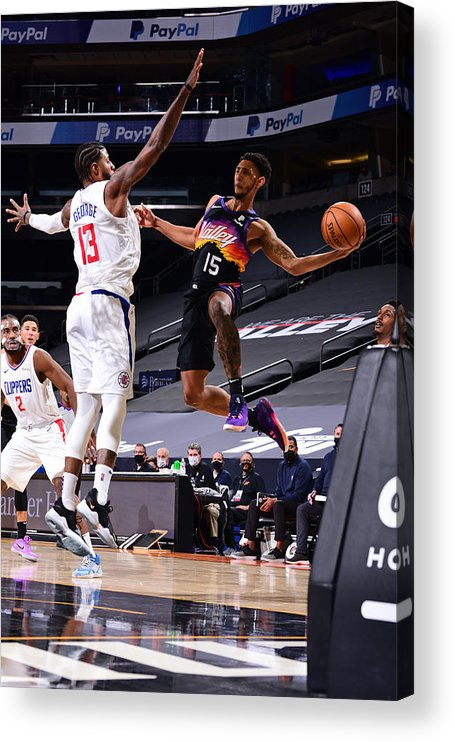Nba Pro Basketball Acrylic Print featuring the photograph Cameron Payne by Michael Gonzales