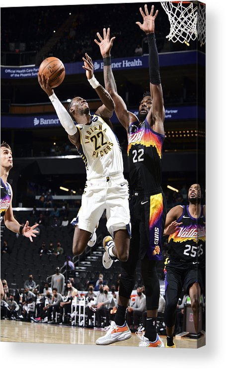 Nba Pro Basketball Acrylic Print featuring the photograph Caris Levert by Michael Gonzales