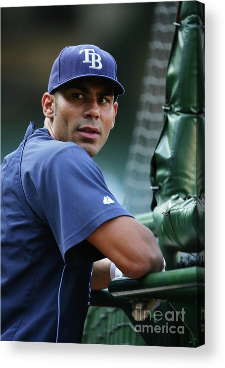 People Acrylic Print featuring the photograph Carlos Pena by Icon Sports Wire