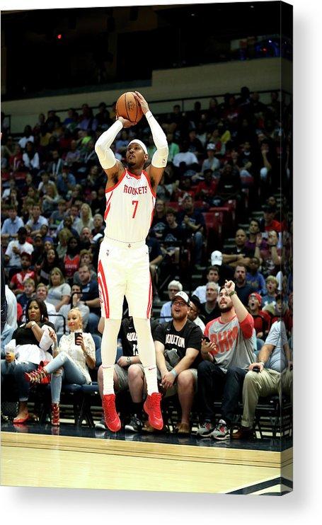 Nba Pro Basketball Acrylic Print featuring the photograph Carmelo Anthony by Joe Murphy