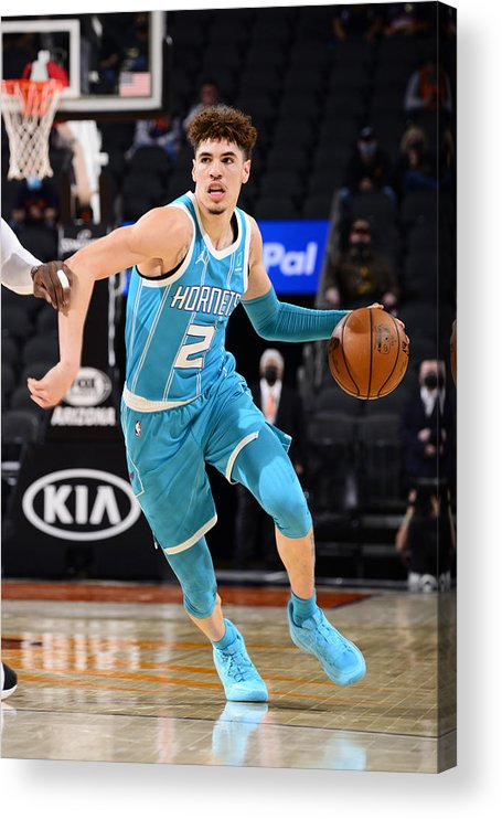 Nba Pro Basketball Acrylic Print featuring the photograph Charlotte Hornets v Phoenix Suns by Barry Gossage