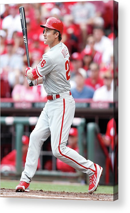 Great American Ball Park Acrylic Print featuring the photograph Chase Utley by Joe Robbins