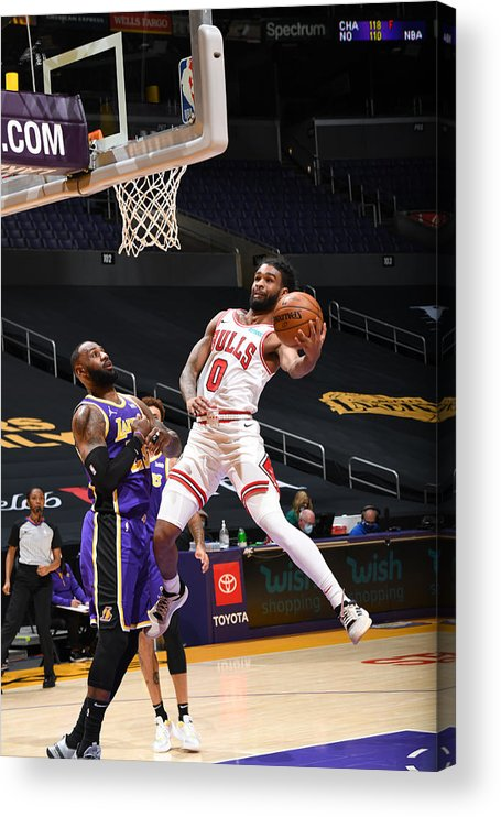 Coby White Acrylic Print featuring the photograph Chicago Bulls v LA Lakers by Adam Pantozzi
