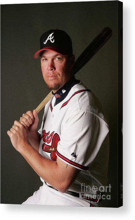 Media Day Acrylic Print featuring the photograph Chipper Jones by Elsa
