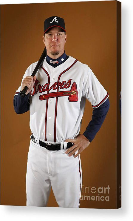Media Day Acrylic Print featuring the photograph Chipper Jones by Gregory Shamus