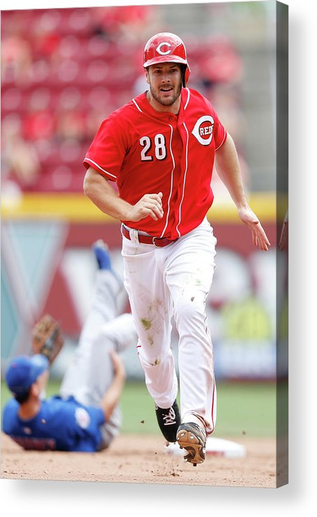 Great American Ball Park Acrylic Print featuring the photograph Chris Heisey by Joe Robbins