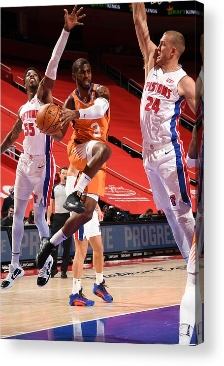 Nba Pro Basketball Acrylic Print featuring the photograph Chris Paul by Chris Schwegler