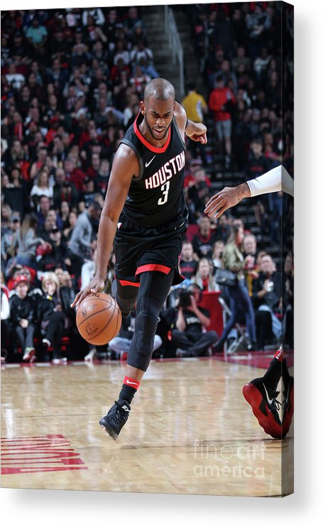 Nba Pro Basketball Acrylic Print featuring the photograph Chris Paul by Layne Murdoch