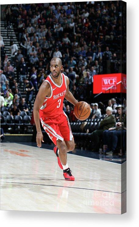 Nba Pro Basketball Acrylic Print featuring the photograph Chris Paul by Melissa Majchrzak