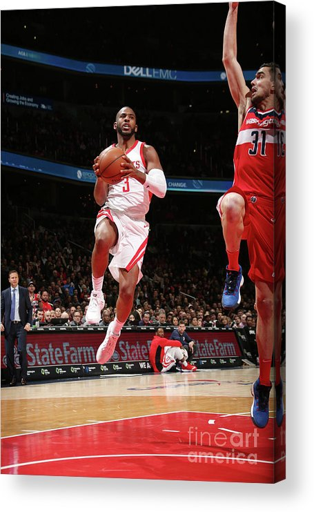 Nba Pro Basketball Acrylic Print featuring the photograph Chris Paul by Ned Dishman