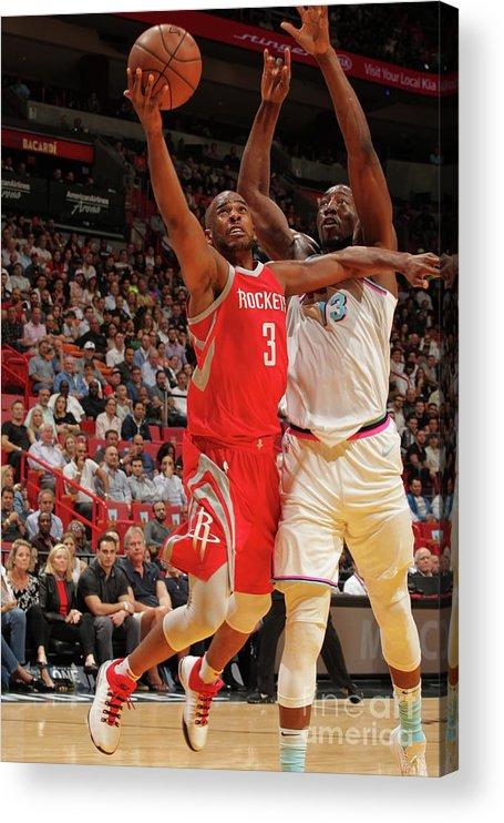 Nba Pro Basketball Acrylic Print featuring the photograph Chris Paul by Oscar Baldizon