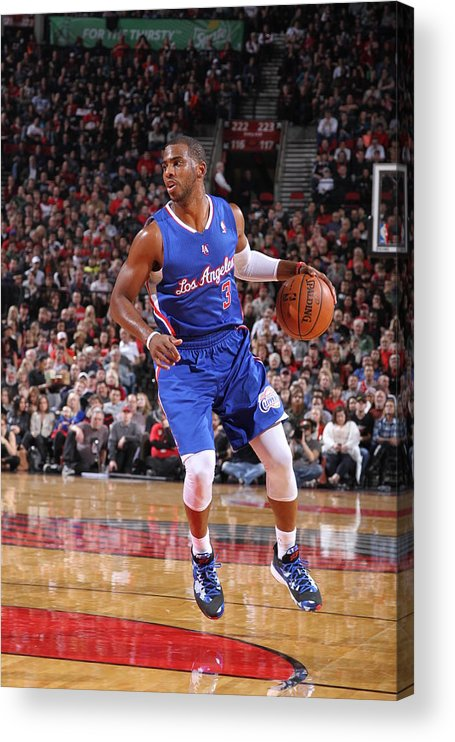 Nba Pro Basketball Acrylic Print featuring the photograph Chris Paul by Sam Forencich