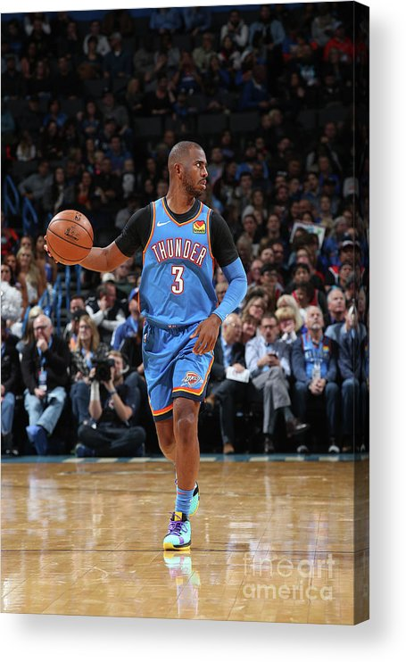 Nba Pro Basketball Acrylic Print featuring the photograph Chris Paul by Zach Beeker