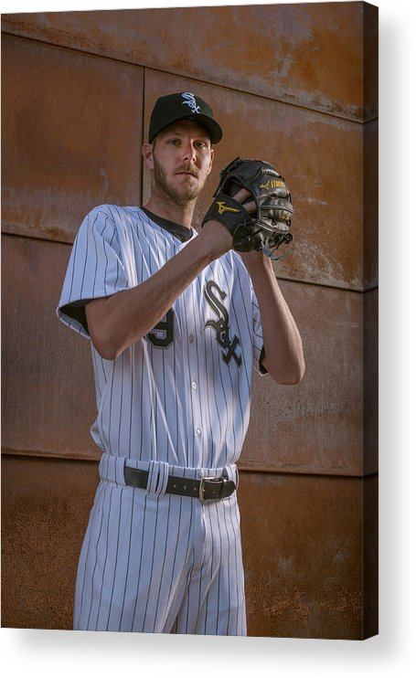 Media Day Acrylic Print featuring the photograph Chris Sale by Rob Tringali