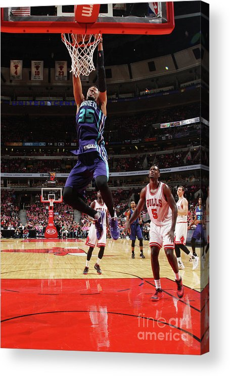 Nba Pro Basketball Acrylic Print featuring the photograph Christian Wood by Gary Dineen