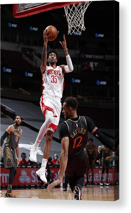 Nba Pro Basketball Acrylic Print featuring the photograph Christian Wood by Jeff Haynes