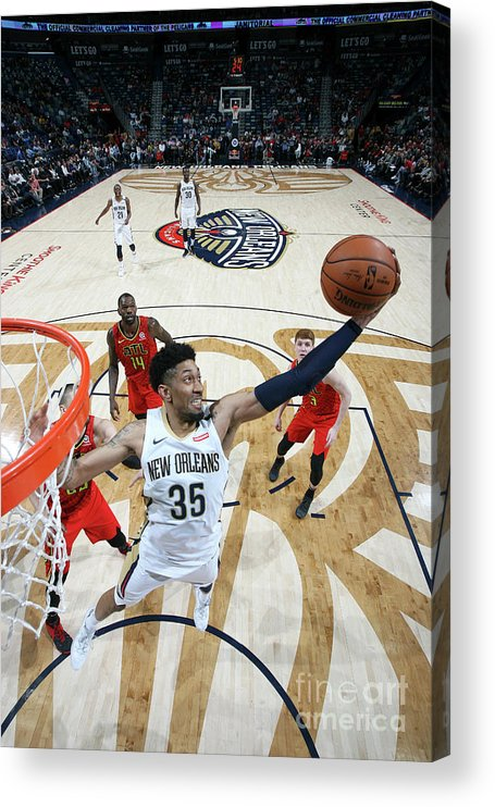 Smoothie King Center Acrylic Print featuring the photograph Christian Wood by Layne Murdoch Jr.