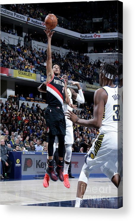 Nba Pro Basketball Acrylic Print featuring the photograph C.j. Mccollum by Ron Hoskins